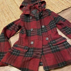 Aeropostale polyester/wool pea coat sz XS